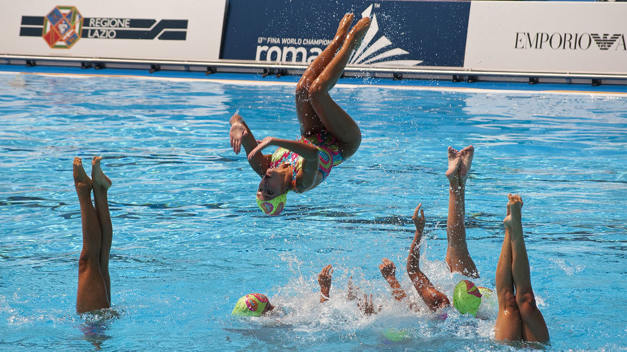 Kids Of All Ages Participate In Synchronized Swimming