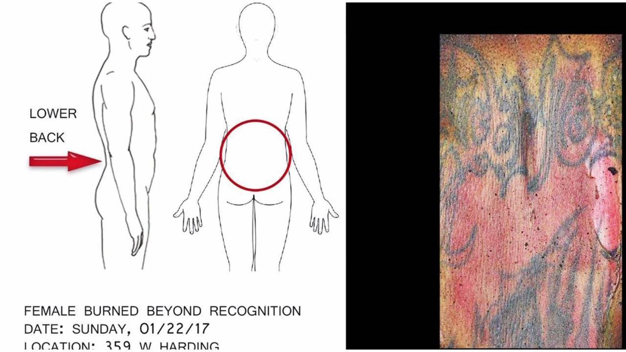 Sapd releases tattoo photo to help id burned body for Firme copias tattoo
