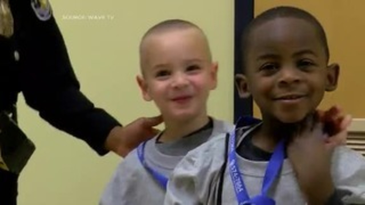 Video Haircut Twins Honored By Police Officer