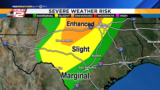 Severe storms possible in San Antonio Tuesday night, Wednesday morning