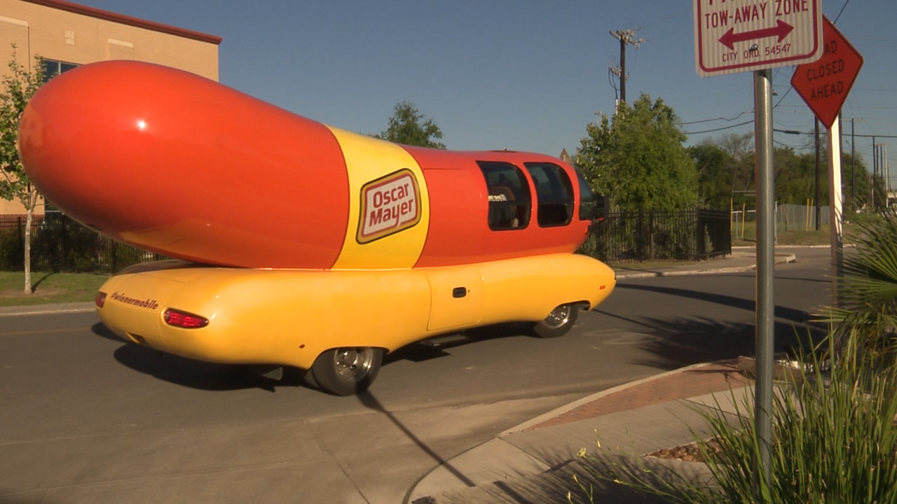 Weinermobile also 3d Ribbon Script Lettering additionally Relish The Moment With The Wiendermobile In San Antonio also Oscar Mayer Just Made A Free Cryptocurrency You Can Redeem For Slices Of Bacon furthermore Oscar Mayer Wienermobile Tools Through San Diego. on oscar mayer wienermobile inside