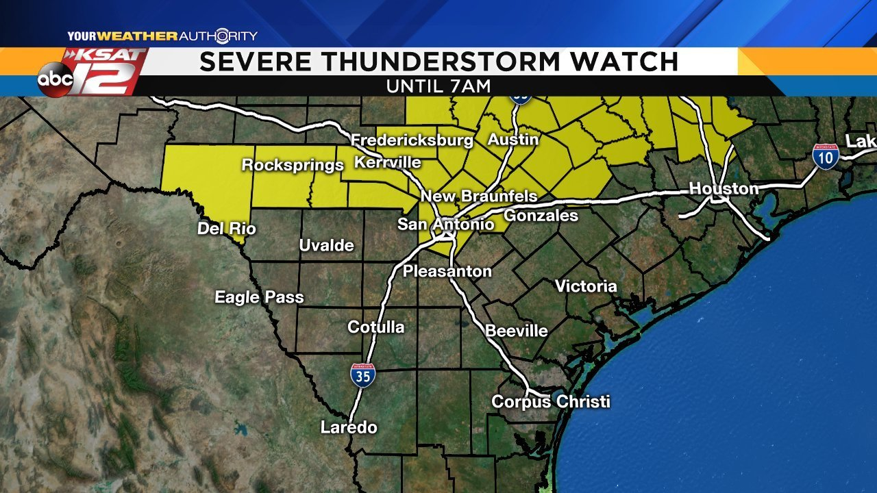 Flash Flooding Severe Storms Possible With Overnight Storms