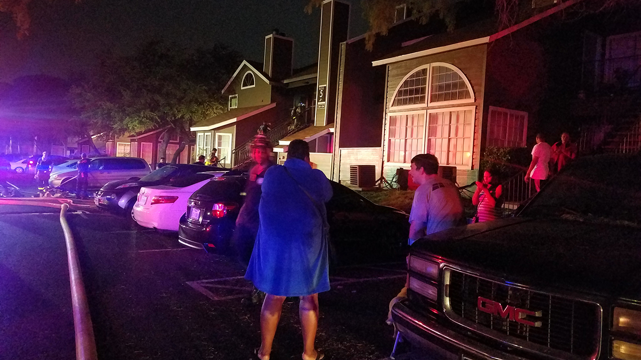 disturbance reported prior to apartment fire on ne side