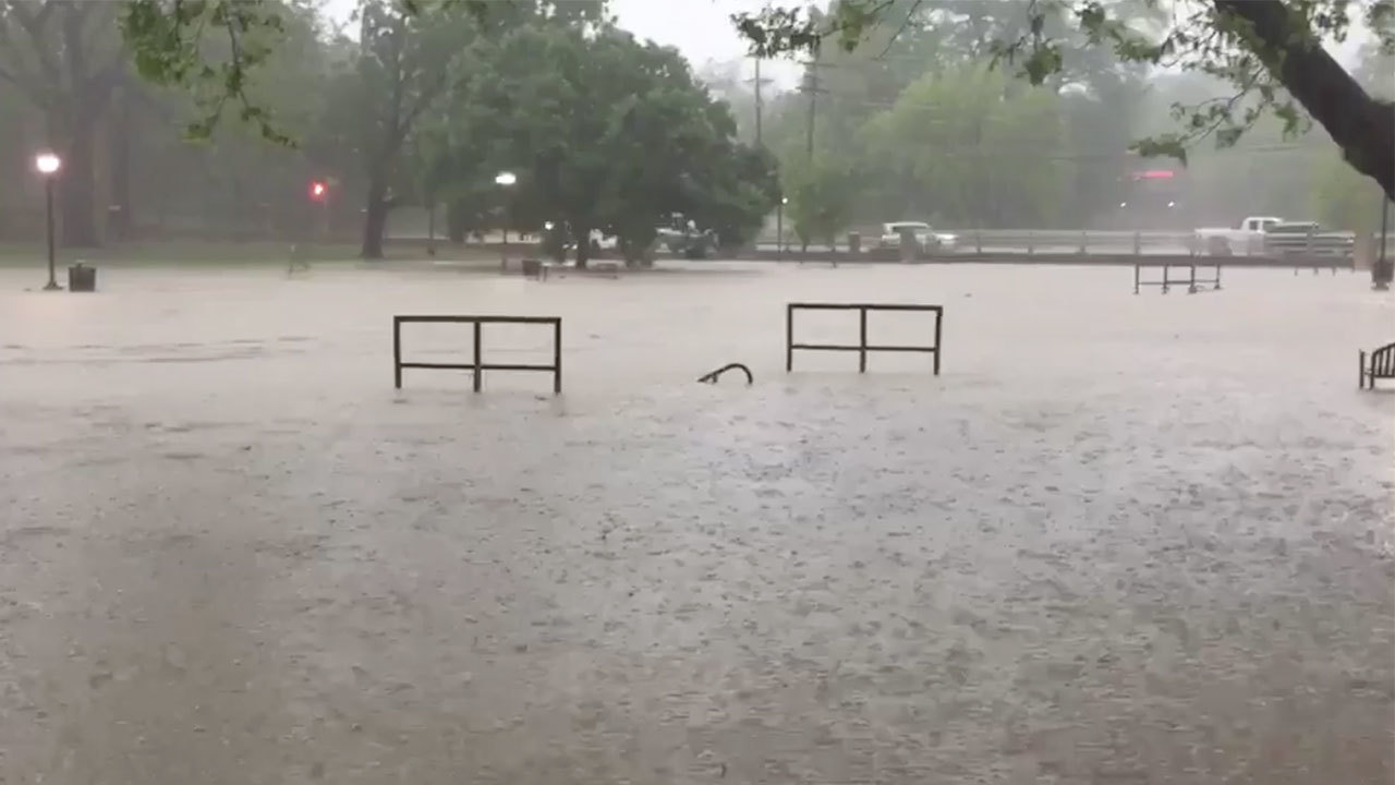 Texas State students take flooded campus in stride
