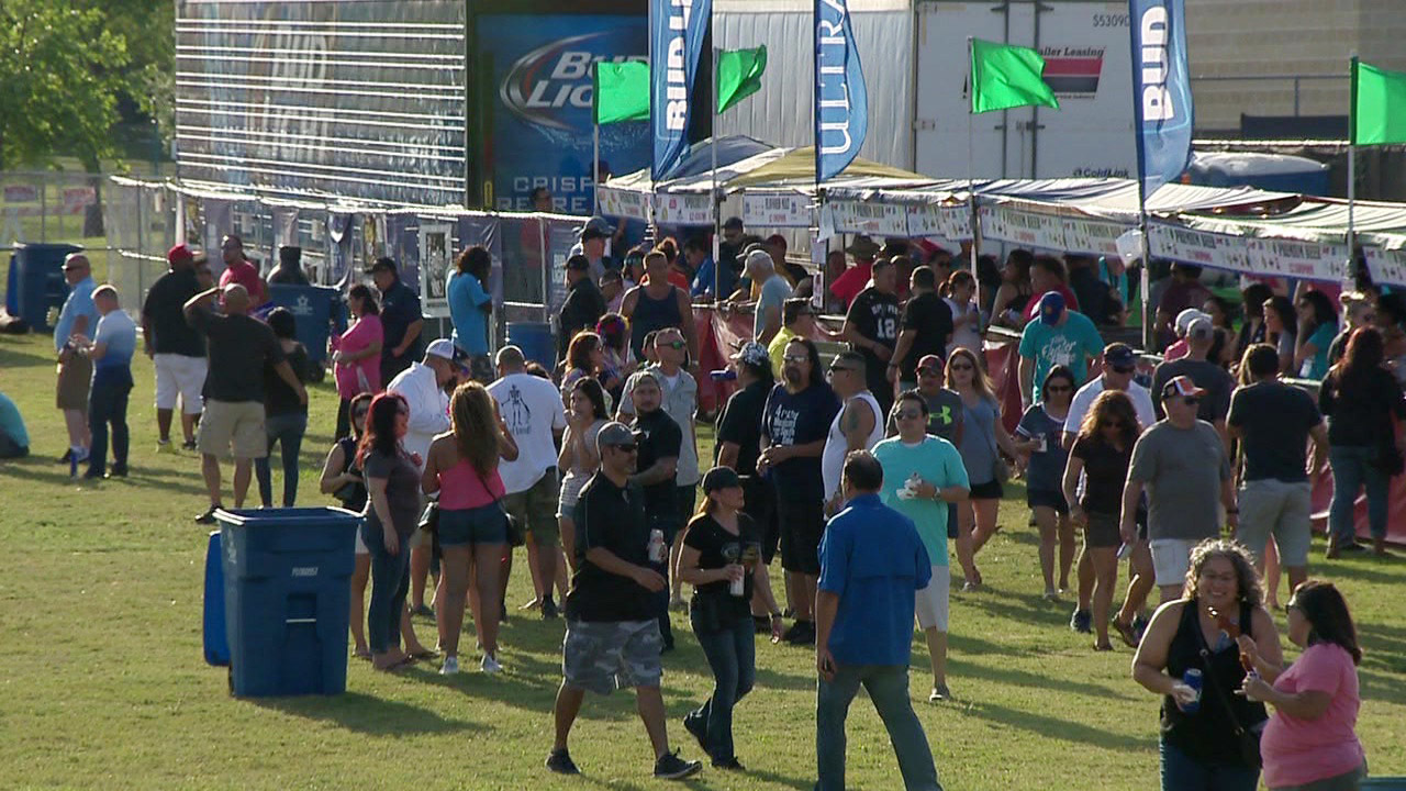 participants visit oyster bake to celebrate fiesta