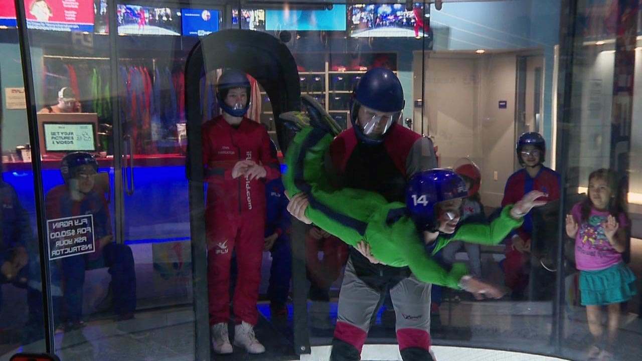 Children encouraged to take flight with indoor skydiving