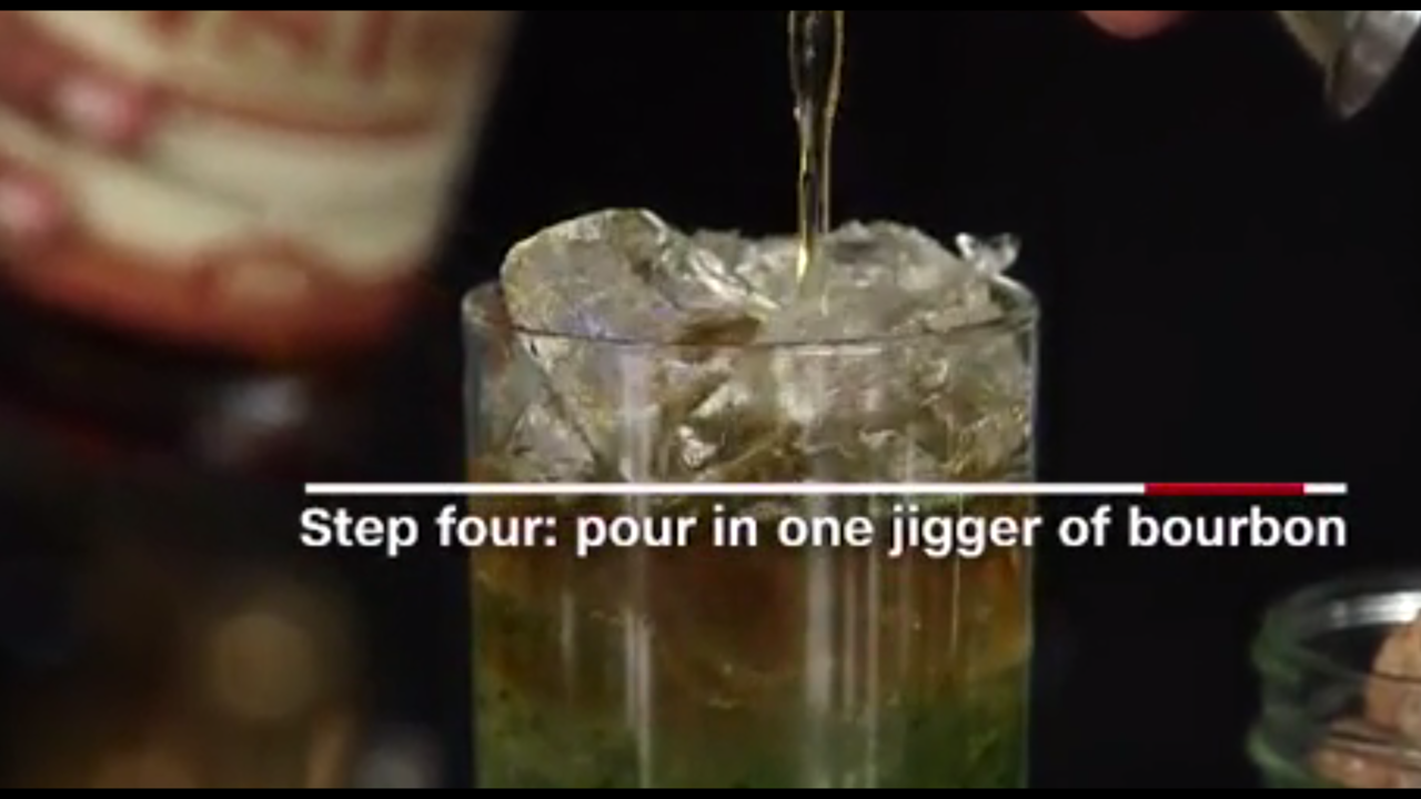 Video Derby Drinks Mixing A Mint Julep