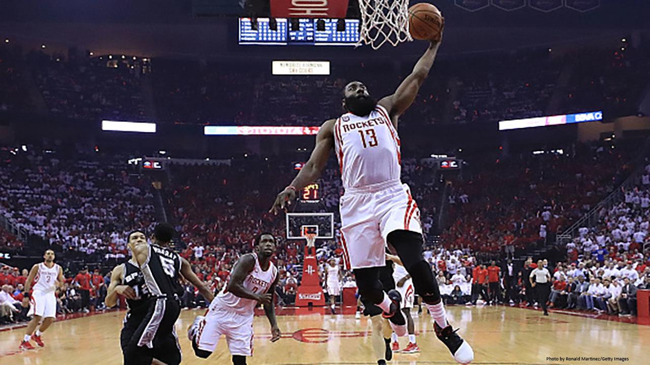 Rockets beat Spurs 125-104, tie series 2-2Rockets Game