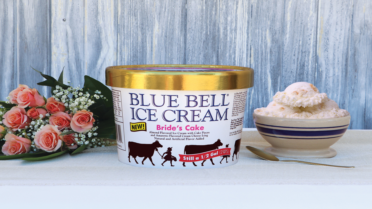 Blue Bell Wedding Cake Ice Cream