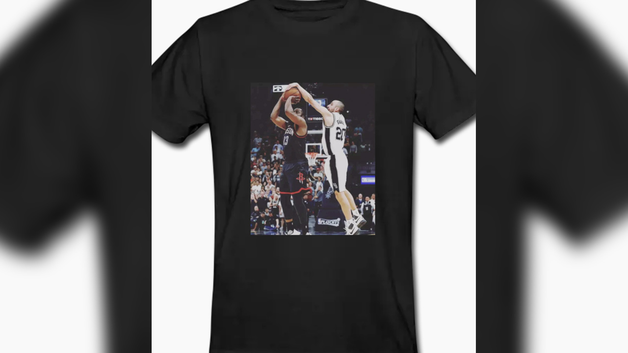 865e5995547 Student creates T-shirt of iconic Ginobili block on Harden
