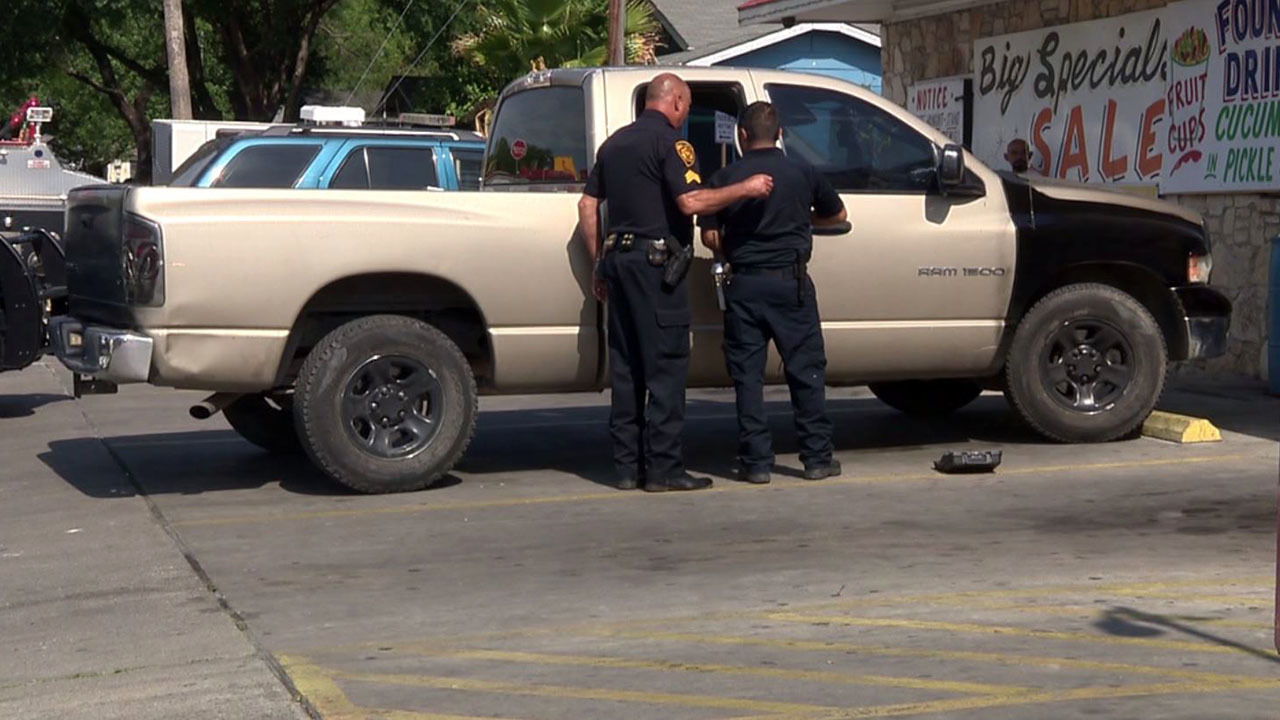 police believe suspects spray painted truck in attempt to