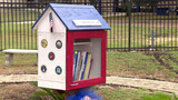 Newly renovated Little Free Library dedicated