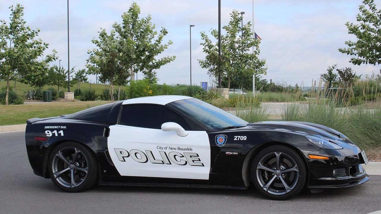 Texas police department Corvette: 'This vehicle was seized