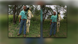 No bull: Texas man claims to have caught 13-pound bullfrog at fishing pond