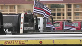 Tow truck drivers hold procession to honor fallen firefighter Scott Deem