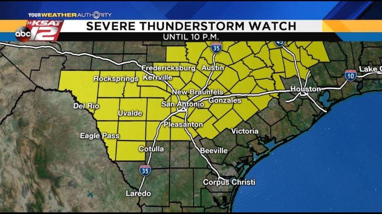 Track Severe Weather With KSAT Doppler Radar Online On App - South texas doppler radar