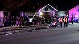 Driver hospitalized after leaving trail of destruction on Southeast Side