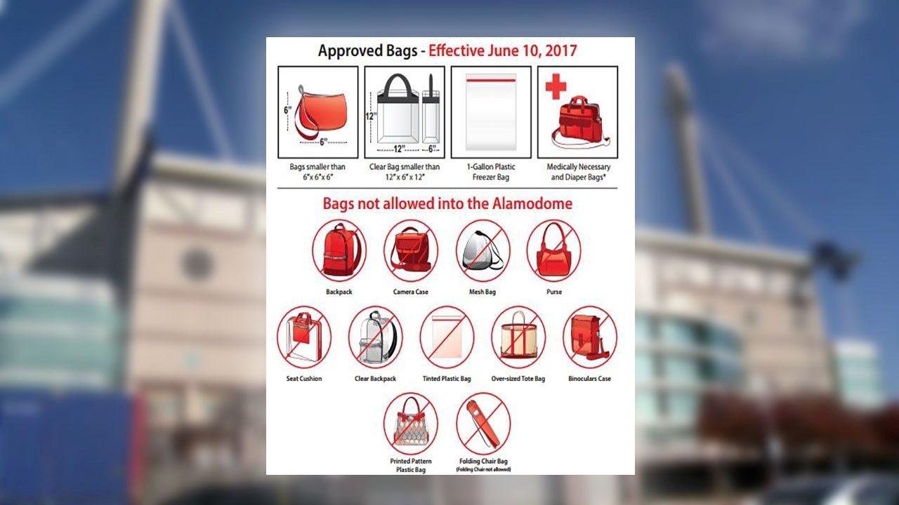 Alamodome Institutes Clear Bag Policy For All Events