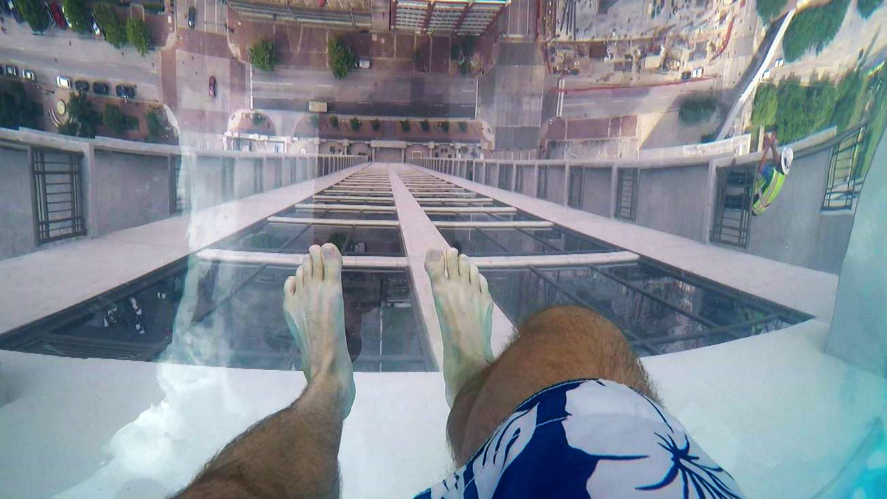 Glass Pool Takes Texas Swimmers To New Heights