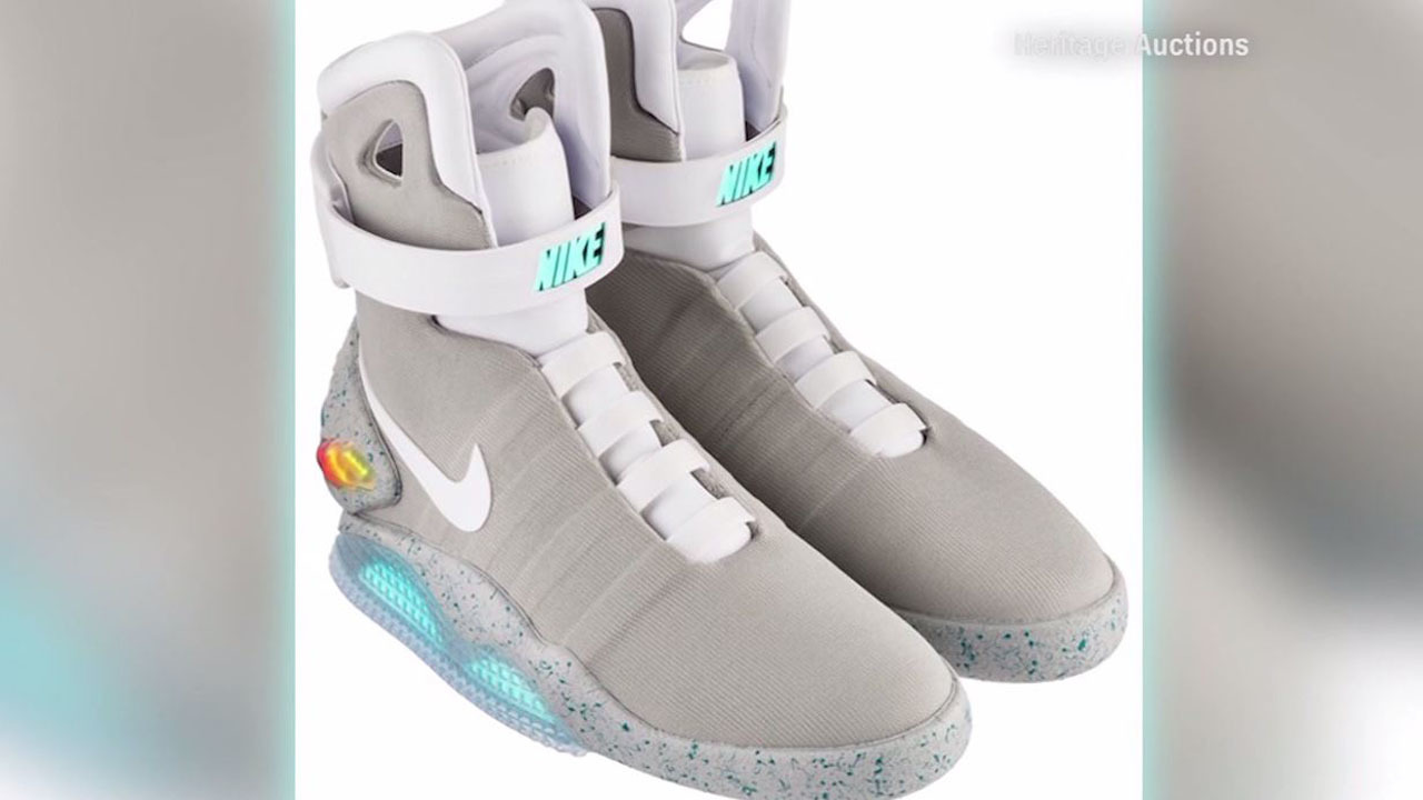 'Back to the Future Part II' shoes sold for record at auction