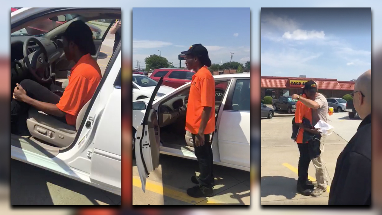 Watch Strangers Buy Car For Texas Man Who Walked 3 Miles To Work