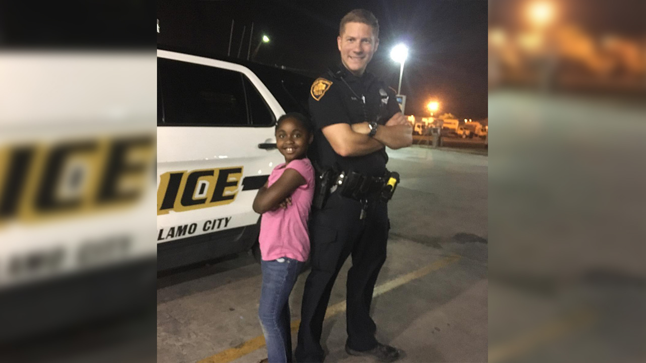 Sapd Officer Shares Heartwarming Moment With Girl In Viral