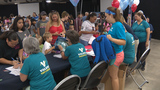 More than 700 backpacks with supplies given to children of military families