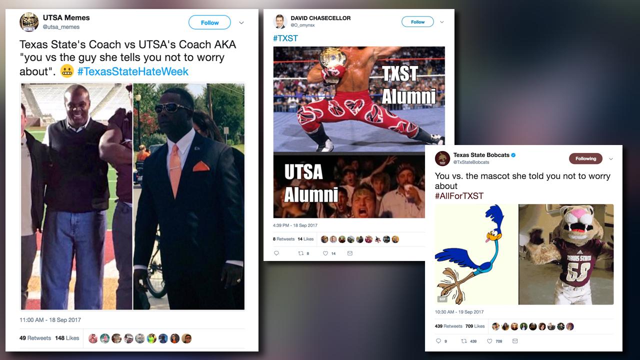 Texas State and UTSA students trash talk on Twitter ahead of...