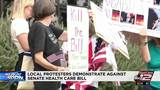 SA protesters demonstrate against proposed Senate health care bill