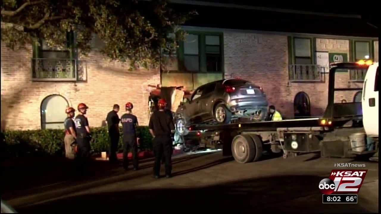 Woman Arrested After Crashing Car Into Apartment Building
