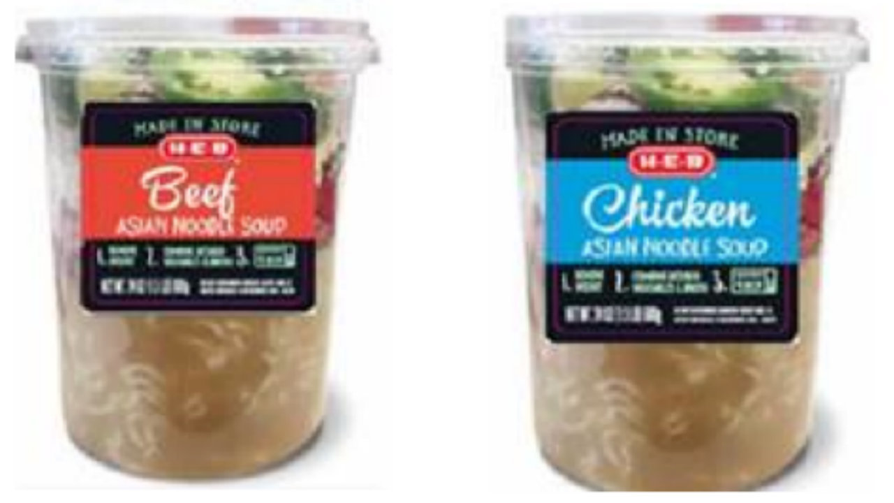 Voluntary recall issued for certain H-E-B single-serving soups