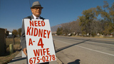 74-year-old man walks miles wearing sign to find kidney for wife