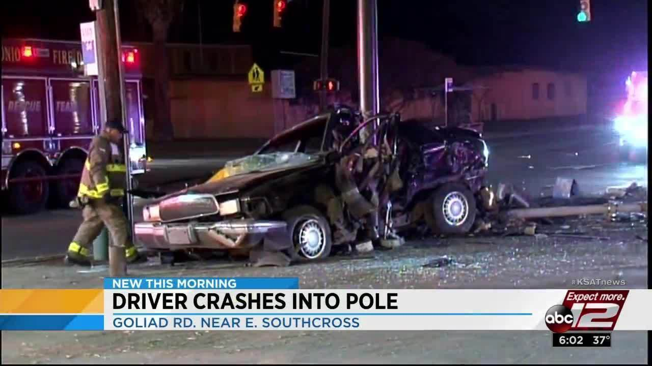 Driver loses control of car, slams into pole on southeast side