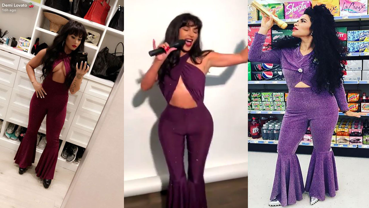 Who wore it best? Big-name Hollywood stars dress as Selena for...