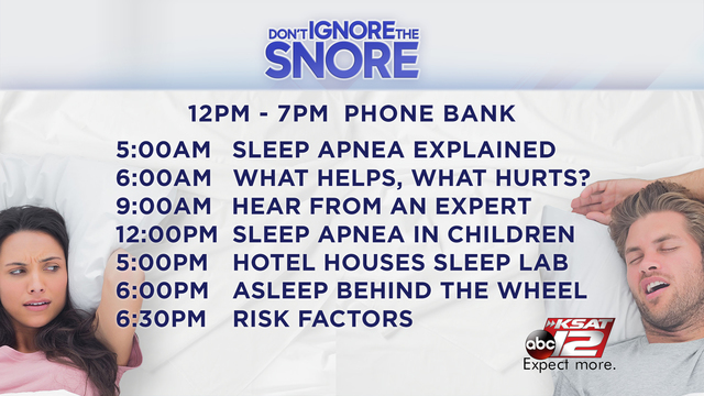 dont ignore the snore full schedule_1510705982862.jpg