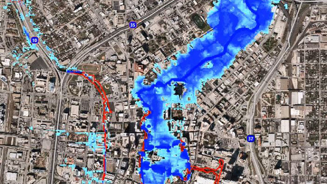 downtown flooding projection