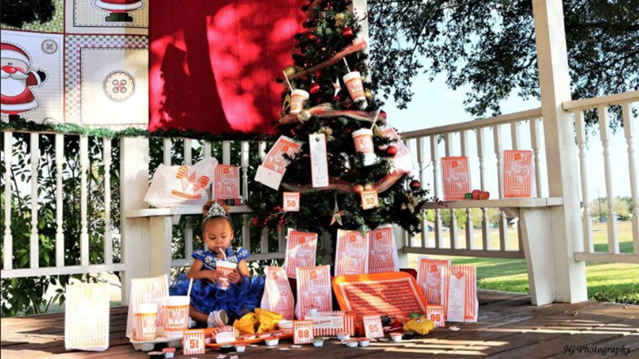 little girl has whataburger photo shoot - Is Whataburger Open On Christmas