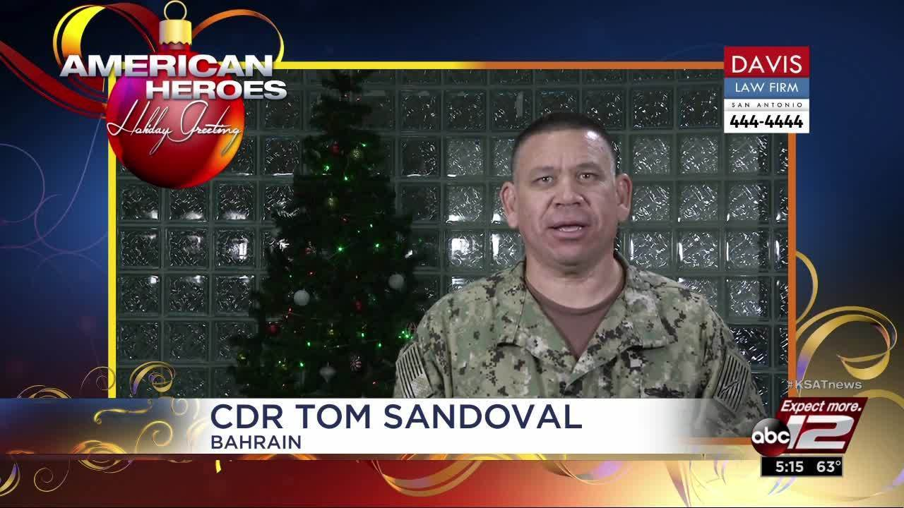 Holiday Greetings Cdr Tom Sandoval