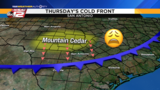 KSAT Weather: Cold front today will mean more mountain cedar