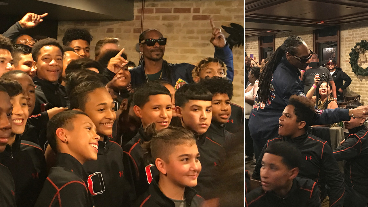 Snoop Dogg Surprises Local Youth Football Team After San