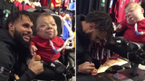 VIDEO: Spurs' Patty Mills signs ball for fan with special needs in New York