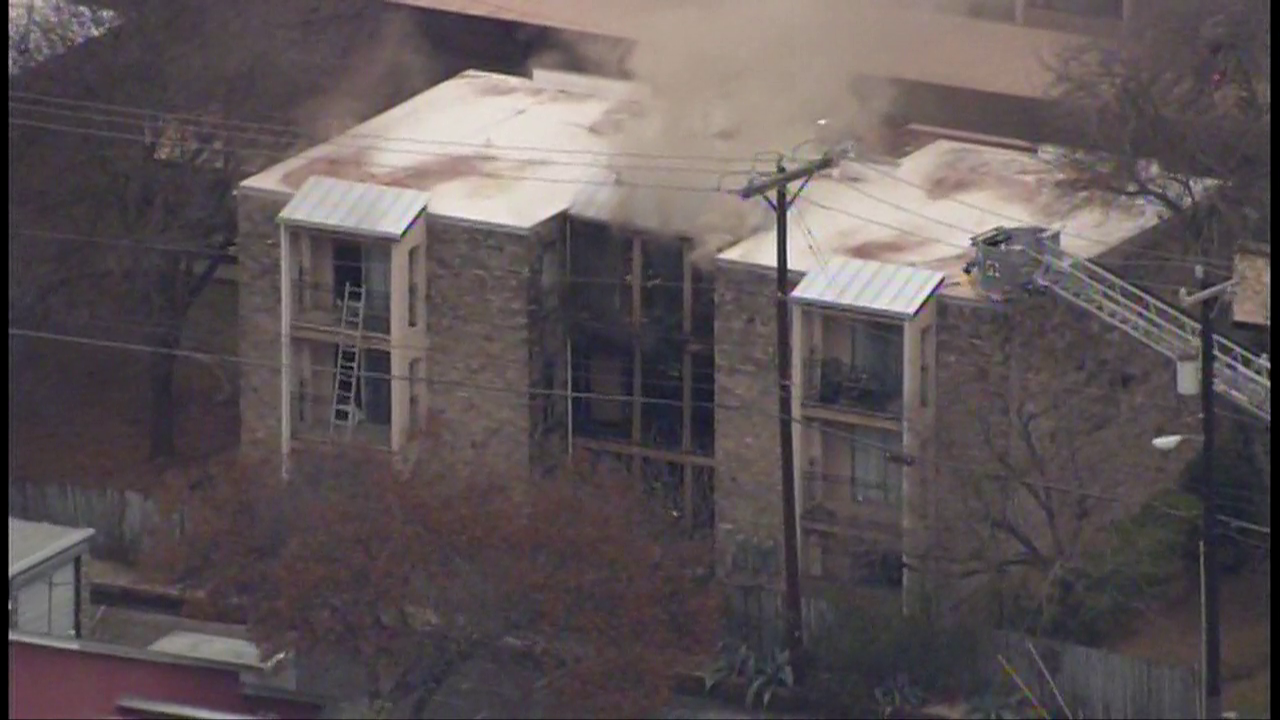 Residents forced out of their homes during fire at apartment complex near Medical Center