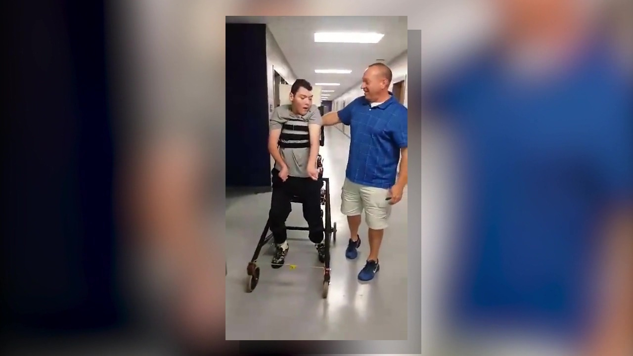 Disabled student will be able to use walking device on campus again