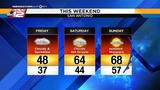 KSAT Weather: Chance of rain, warmer temperatures expected this weekend