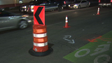 More barricades added around West Side sinkhole to deter traffic