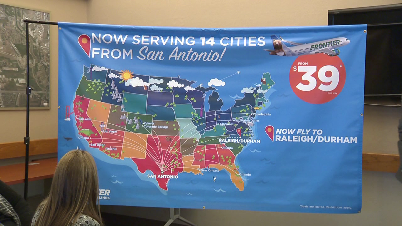 Frontier Airlines To Fly Nonstop From Sa To Raleigh Durham