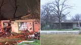 Before and after photos of damage one year after tornadoes ripped&hellip&#x3b;