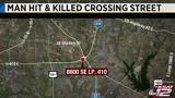 Man hit, killed by vehicle while attempting to cross SE Loop 410 access road