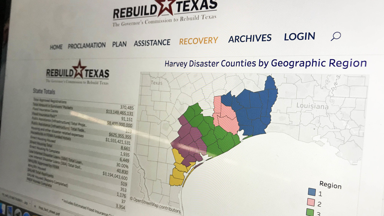 online map shows how hurricane harvey relief funds are spent