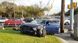Man crashes stolen car north of Medical Center, passenger arrested, police say